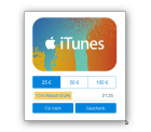PayPal: iTunes Guthaben mit 15% Rabatt z.B. 25,-€ für 21,25 €