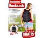 Faltbarer Rucksack (statt 12,90 €) GRATIS @ pearl, nur VSK