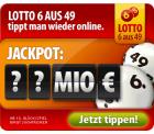 Tipp24: 22 Euro geschenkt wenn man nur 1 Lottofeld spielt (Einsatz 1,50 Euro) nur für Neukunden