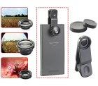 Gratis: Somikon Smartphone-Echtglaslinsen-Set mit Weitwinkel, Fischauge, Makro statt 19,90 €  @ Pearl + 4,90 € VSK