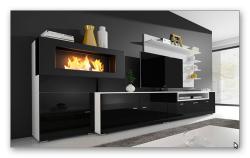 olympo kamin-set für das wohnzimmer in weiß oder schwarz für 549, Gestaltungsideen