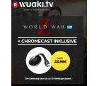 Wuaki: Google Chromecast 2 + World War Z (Film als Stream) für nur 23,99 Euro statt 38,50 Euro bei Idealo