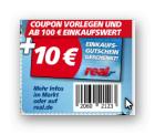 [Lokal] 10€ Einkaufsgutschein gratis erhalten bei einem Einkaufswert von 100€ @real