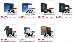 75 € Rabatt auf alle PlayStation 4 Konsolen @Media Markt