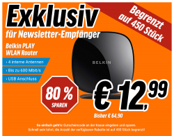 Belkin PLAY N600DB WLAN Router NN2 600Mbit/s für 12,99 € (52,77 € Idealo) @Notebooksbilliger