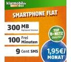 D1-Netz Klarmobil 100 Frei-Minuten + 300MB Datenflat für 1,95€ mtl. Einmailg 4,95€ @Amazon