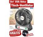 @pearl: USB-Akku-Tisch-Ventilator mit LED-Leuchte 0,00€ (zzg.Versand)