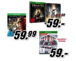 3für2 Aktion bei MediaMarkt: 3 XBox One Games kaufen nur 2 zahlen