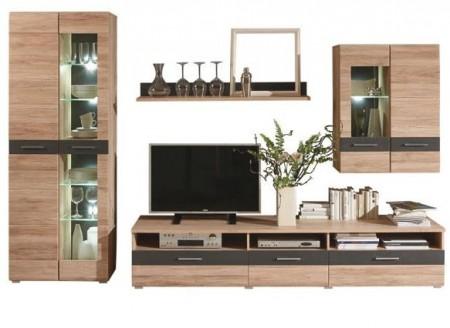 Wohnwand Xora Braun 285x193x50 Cm Holzwerkstoff Für 599