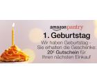 Amazon: Zum 1. Geburtstag von Amazon Pantry gibt es einen 20 Euro Gutschein