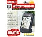 Digitale Wetterstation mit Funkuhr< &#038; Alarm, GRATIS statt 29,90, nur VSK @ pearl