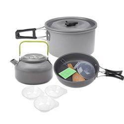 Lixada Aluminiumoxid Outdoor Camping Pot Set für 19.59€ statt 27,99€ dank Gutscheincode @Amazon