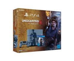 Sony PlayStation 4 Konsole (1TB, grau-blau) im Uncharted 4: A Thief's End Design inkl. Uncharted 4: A Thiefs End für 299€ [Idealo 369€] @Amazon