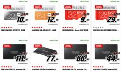 Speicherkarten und SSD Festplatten in der Tiefpreisspätschicht alle zum Idealo Best-Preis @Media-Markt