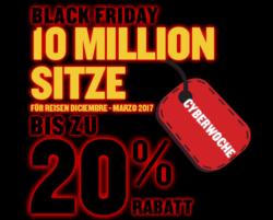 10 Millionen Tickets mit bis zu 20% Rabatt @Ryanair Black-Friday