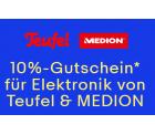 10% Rabatt mit Gutscheincode auf alle Artikel von Teufel und Medion @eBay