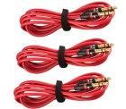 3 Stück COM-PAD Stereo Audio AUX Klinken Kabel 120cm 3,5mm Klinke mit Gutscheincode für 5 € statt 16,97 € @Amazon