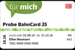 Eine Probe BahnCard 25 oder 50 kaufen eine zweite Karte gratis dazu bekommen @Bahn.de (BF)