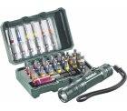 Voelkner: Metabo Bit-Set 29teilig + LED Taschenlampe für 14,99 Euro statt 20,30 Euro bei Idealo