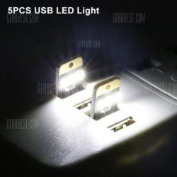Gearbest: 5er Pack Mini USB-Leuchte mit 3 SMD für nur 0,87 Euro inkl. Versand