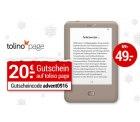 Schnell schnell, nur für die ersten 1.000 Käufer: Tolino Page eBook-Reader für 49€ (idealo 61€) @weltbild.de