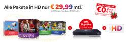 Sky komplett (Entertainment + Sport + Bundesliga + Cinema inklusive HD und SkyGo) für 29,99 € mtl. statt 38,50 € @Sky
