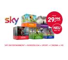 Sky komplett (Entertainment + Sport + Bundesliga + Cinema inklusive HD und SkyGo) für 29,99 € mtl. statt 38,50 € @Handyflash