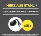 Wuaki.tv: Google Chromecast 2 + Herz aus Stahl als HD Stream für 24,99 Euro [Idealo  37,98 Euro]
