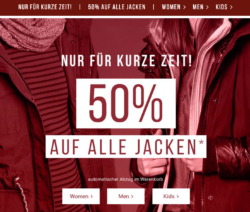 50% auf alle Tom Tailor Jacken