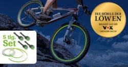 Amazon: Glow Garage Fahrrad Felgenbeleuchtung  (aus Der Höhle der Löwen) mit Gutschein für nur 12,89 Euro statt 22,98 Euro bei Idealo