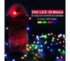 Amazon: Morpilot wasserdichte Outdoor LED Lichterkette mehrfarbig (200 LEDs 22 Meter lang) mit Gutschein für nur 9,99 Euro statt 19,99 Euro