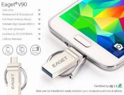EAGET V90 16GB OTG Smartphone USB-Stick mit Gutscheincode für 9,99 € statt 13,99 € @Amazon