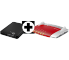 Mediamarkt: AVM FRITZ!Box 7490 + WD Elements 1 TB Festplatte für nur 198 Euro statt 248,88 Euro bei Idealo