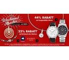 Wochenendkracher bei Karstadt.de: 44% Rabatt auf Uhren & 22% Rabatt auf Schmuck, z.B J. Springs Herren Automatikuhr für 55,47€ [idealo 99€]