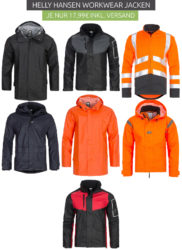 7 versch. Helly Hansen Workwear Jacken für je 17,99 € (59,30 € Idealo) @Outlet46