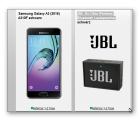Blau Allnet Flat mit 3GB LTE + Samsung Galaxy A3 + JBL Go Ultra Wireless Bluetooth Lautsprecher für 14,99€ mtl. @Handyflash