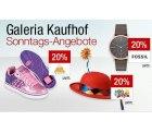 Galeria Kaufhof Sonntagsangebote: 20% Rabatt auf Uhren, LEGO Spielzug usw., z.B. LEGO Star Wars TIE Fighter für 174€ [idealo: 245€]