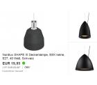Nordlux Leuchten Sonderverkauf (jede Lampe 19,95 €) @Redcoon/eBay z.B. Nordlux SHAPE III Deckenlampe für 19,95 € (43,30 € Idealo)