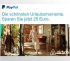 25€ Rabatt beim erstenmal mit PayPal zahlen bei Airbnb