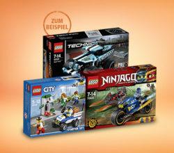 50% Rabatt auf den günstigeren LEGO Artikel @real [Online & Offline]