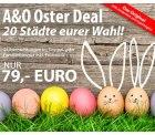 A&O Osterdeal: 2 Nächte für 2 Erwachsene + 2 Kinder (oder Enkelkinder) bis einschließlich 17 Jahre für 79 Euro