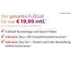 Sky-Sport komplett (Sky Starter + Sport + Fußball Bundesliga + Sky Go) für 19,99 € mtl. statt 50,99 € mtl. @Sky