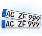 2er Set EU KFZ Nummernschilder für nur 9,84€ @ebay [sonst ~14€]