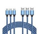 3er Pack 3m Micro USB Kabel Nylon A Male auf Micro B mit Gutscheincode für 7,99 € statt 12,99 € @Amazon
