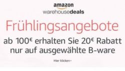 Amazon: 20€ Extra-Rabatt auf ausgewählte Produkte von Amazon Warehouse Deals ab 100€ MBW