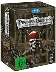 Amazon: Pirates of the Caribbean – Die Piraten-Quadrologie (5 Blu-rays) für 14,39 Euro [ Idealo 19,98 Euro ]