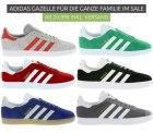 Outlet46: Verschiedene adidas Gazelle Sneaker ab 24,99 Euro im Sale z.B. Gazelle Sneaker Schwarz für nur 29,99 Euro statt 47,82 Euro bei Idealo