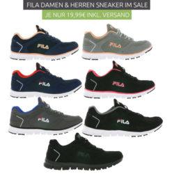 Outlet46: Verschiedene Fila Sneaker für nur je 19,99 Euro statt 47,99 Euro bei Idealo