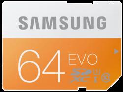 SAMSUNG EVO SDXC Speicherkarte 64 GB für 14,99 € (22,40 € Idealo) @Media-Markt