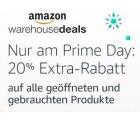 20% Rabatt auf über 100.000 ausgesuchte Warehouse Deals bis Dienstag 23:59 Uhr @Amazon